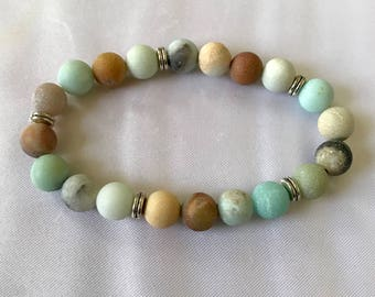 Natural Multicolored Hemimorphite Bracelet