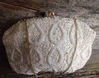 Vintage Bridal Evening Bag beaded/wedding/bridal/vintage/evening bag