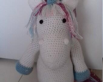 Beautiful crocheted Unicorn blanket