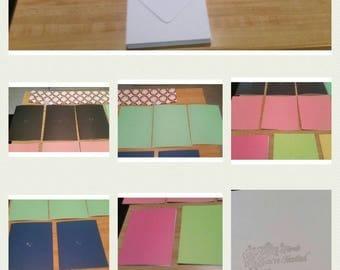 Handmade Assorted Color  Invitation Cards & White Envelopes