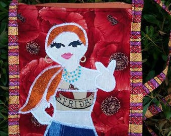 Peace Girl Pocket Purse - Wearable Art