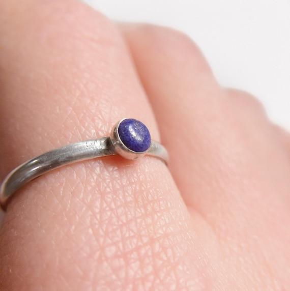 Lapis Lazuli Stacker Ring / Lapis Lazuli Stacker / Lapis Lazuli Ring / Silver Stacker Ring / Stacking Ring / Lapis Lazuli / Womans Ring