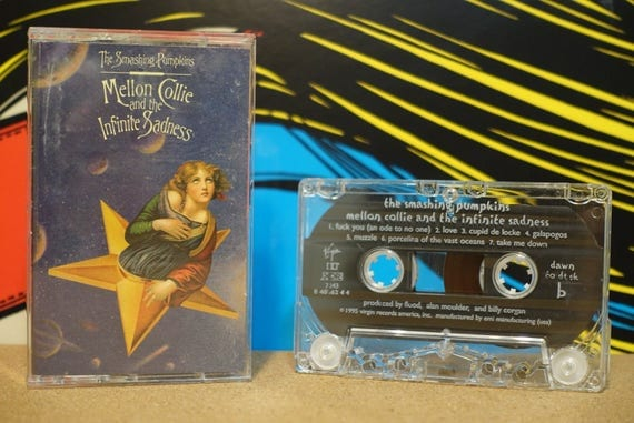 Mellon Collie & The Infinite Sadness by Smashing Pumpkins Vintage (2 MINT SEALED) Cassette Tapes