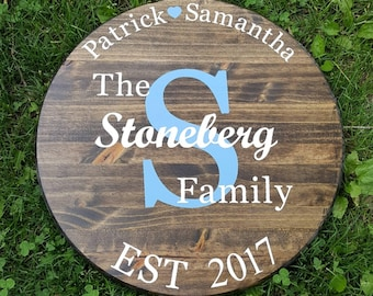 Personalized Family Sign | Established Family Sign | Wedding Gift | Custom Family Sign | Housewarming Gift | Mother's Day Gift