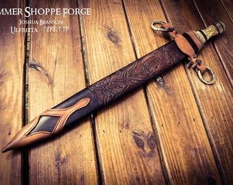 ULFBITTA - Wolfbite hand forged Viking short sword, seax, or shield maiden's sword