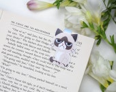 Grumpy Cat - Magnetic bookmark || cat, happy planner, literary gift, paper clips, cat lover gift, planner bookmark, animals bookmarks