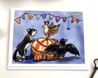 Halloween party time! - halloween card, party card, birthday card