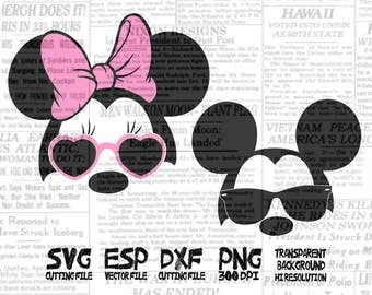 Mickey Minnie Mouse Sunglasses  Clipart  Perfect for A fun way to surprise someone
