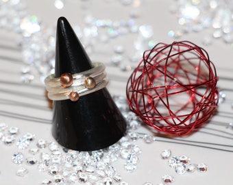 """Ring """"three rings, three balls"""""""
