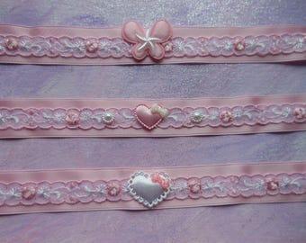 Baby pink Sweet pastel chokers. Kawaii.