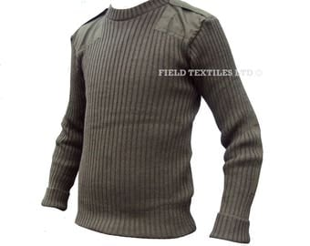 NEW - Jersey Man's Heavy Olive Green PULLOVER/JUMPER - Size Small Medium Large - British Army