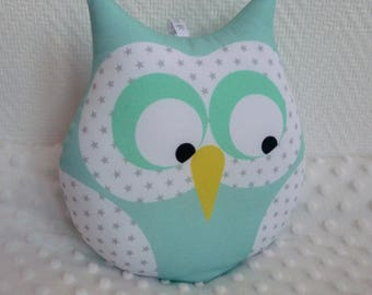 lime green Diabolo musical OWL cushion