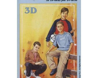 Book sheets of 24 Mini 3D collage, decoupage teen patterns