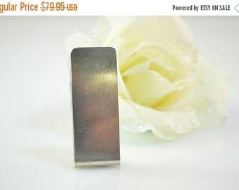 """HUGE Sale Tie Bar Sterling Silver 21.9g """"Squash '91"""" Engraved"""