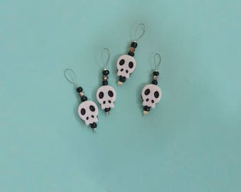 Beaded Skull Stitch Markers Pack of 4