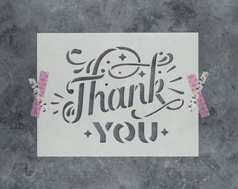 Thank You Stencil - Reusable DIY Craft Stencils of Thank You Sign