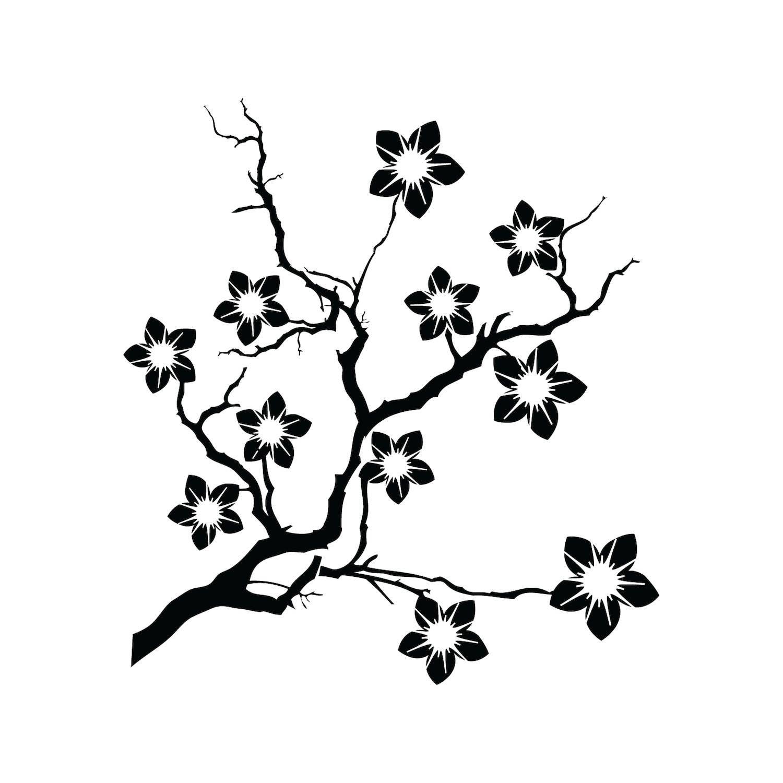 Cherry Blossom Flower Stencil: Reusable DIY Craft Stencils Of A