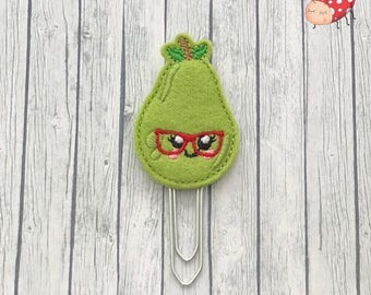 Pear planner clip, pear paperclip, Stationery, feltie planner clip, organiser accessories, feltie paperclip, paperclip, planner clip