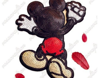 large mickey mouse 22*18cm patch Embroidery sew on patch Decoration Accessories Embroidered patch  no.150