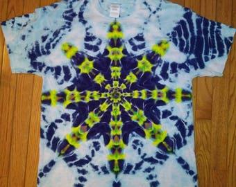 L Mandala star tie dye t-shirt