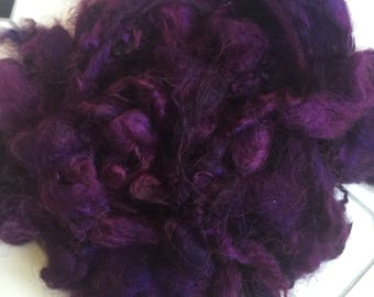 Dyed washed purple Icelandic fleece