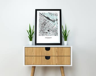 City Map-Amsterdam City Map Poster