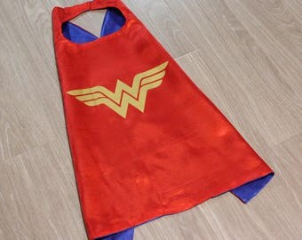 Wonder Woman Cape and Mask Set, Wonder Woman Cape, Wonder Woman Party Favors, Wonder Woman Party, Superhero Party, Wonder Woman Costume