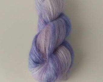 Hand Dyed Yarn Kid Mohair Silk, Lace 50g - Culinary Lavender