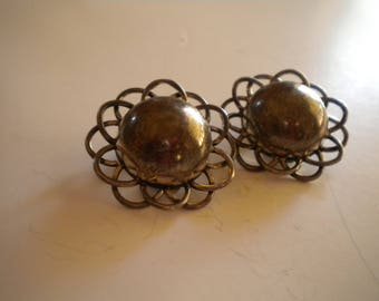 Silver Dome Clip-on Earrings TO-77 Mexico