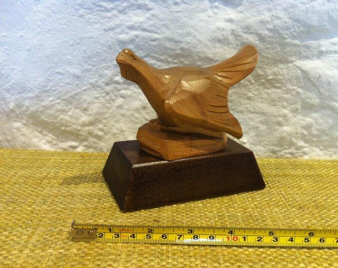 Vintage Wood Carved bird hand carved decoration