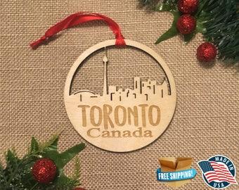 Toronto Canada Ornament *** Skyline Christmas Holiday Ornament ***