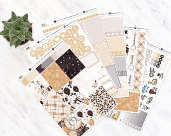 SARA New Years 2018 | Vertical Weekly Kit | Matte | made to fit ECLP vertical | a la carte
