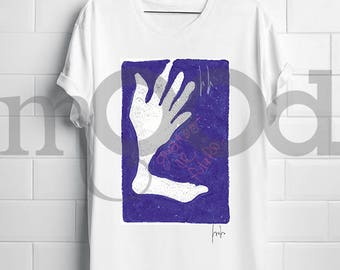 "T-shirt hand and foot ""look to the future"""