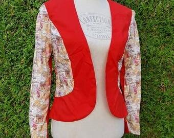 Red paris jacket