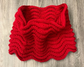 Hand Knitted Simple Cowl