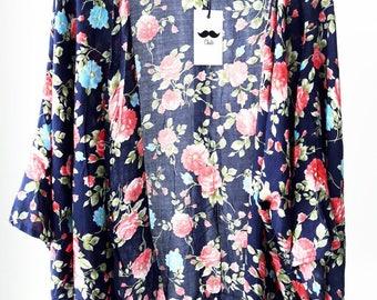 Printed Flowers Kimono
