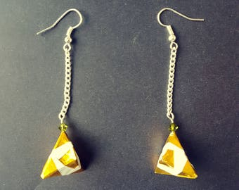 Origami inspired Christmas gift earrings
