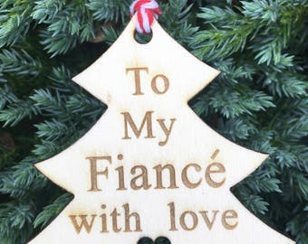 Fiancé Gift Tag, Family Gift Tag, Christmas 2017, Rustic Christmas Tag, Traditional Christmas Tag, Christmas Wrapping, Festive Gift Tag