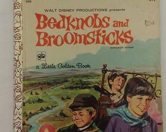 Walt Disney Bedknobs And Broomsticks Little Golden Book 1971