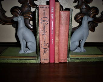 Gray Dog Weimaraner Book Ends