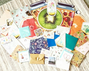 Happy Mail// Pen Pal// Snail Mail Grab Bag/Kit // Scrapbook Supplies