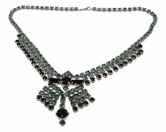 1960s Purple Rhinestone Vintage Necklace