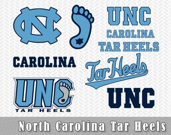 University North Carolina Tar Heels SVG DXF Logo Vector Cut File Silhouette Cameo Cricut Stencil Vinyl Decal Heat Transfer Tshirt Iron on