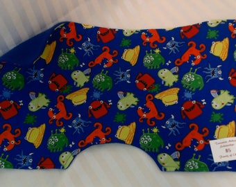 Blue burp cloth