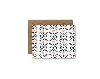 Mud Cloth Greeting Card - A2