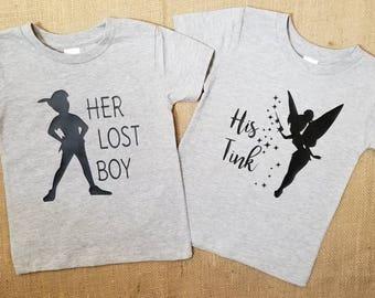 Peter Pan and Tinker bell shirts