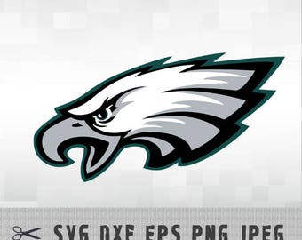 Philadelphia Eagles SVG DXF Logo Vector Cut File Silhouette Studio Cameo Cricut Design Template Stencil Vinyl Decal Heat Transfer Iron on