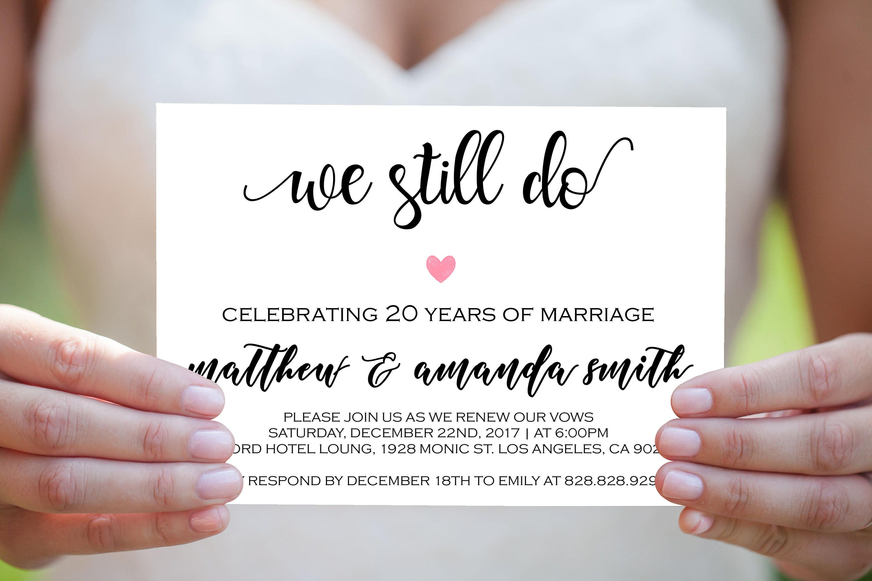 We Still Do Invitations - Vow Renewal Invitation Template ...