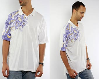 Adidas Polo Shirt / Polo Shirt Adidas / Adidas T-Shirt / Vintage Adidas Top / Adidas Vintage / Retro Adidas / Fancy Polo Shirt / White Polo