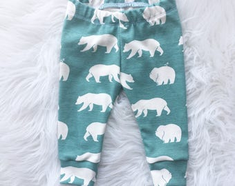 Organic Bear Baby Leggings